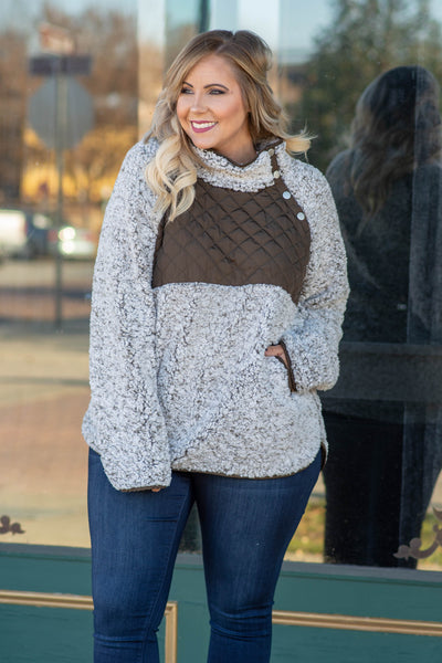 Snowy Mornings Pullover, Brown