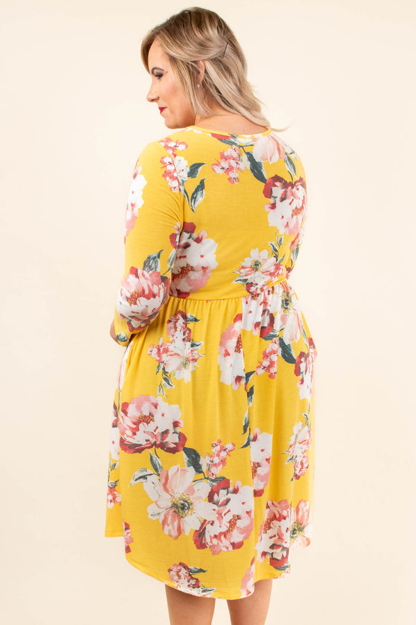 Brand New Start Dress, Yellow