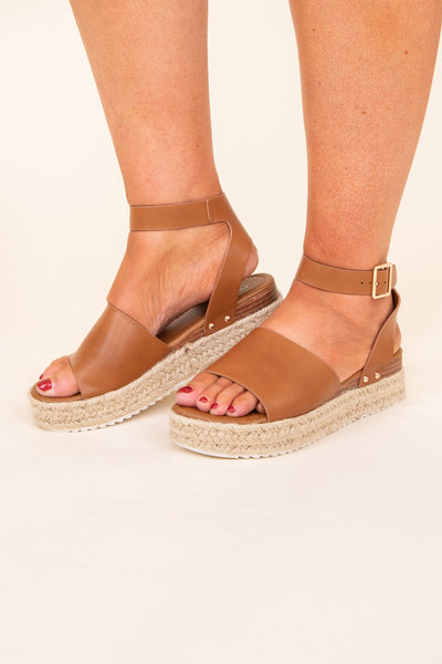 shoes, espadrilles, brown, solid, new tan, tan, buckle