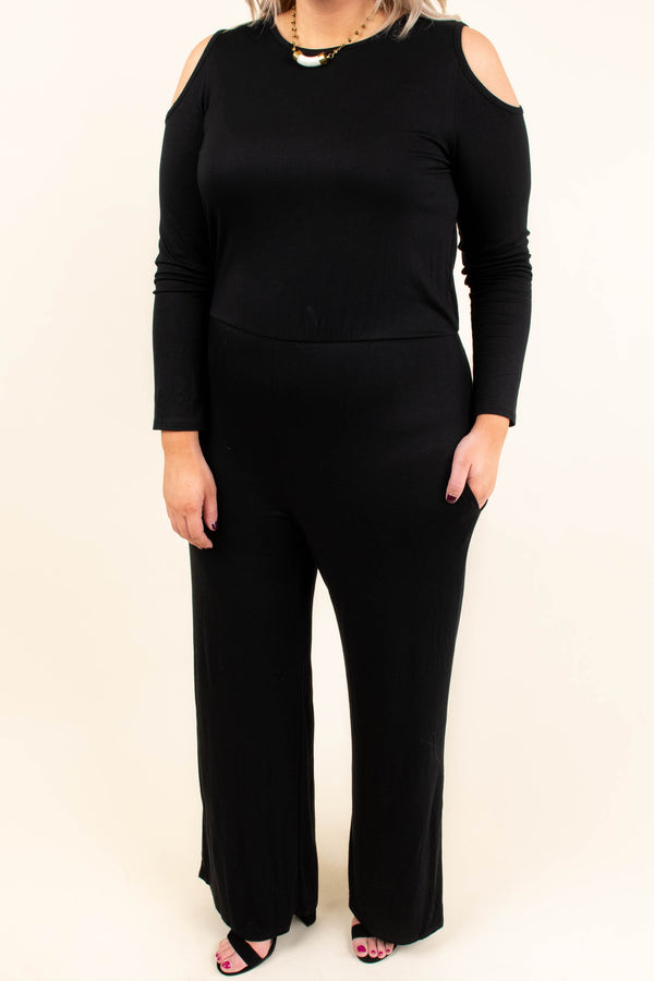 Take A Good Look Jumpsuit, Black