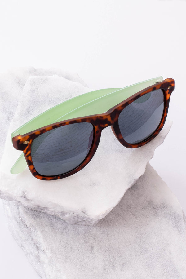 sunglasses, acrylic, black, brown, tortoise, mint arms