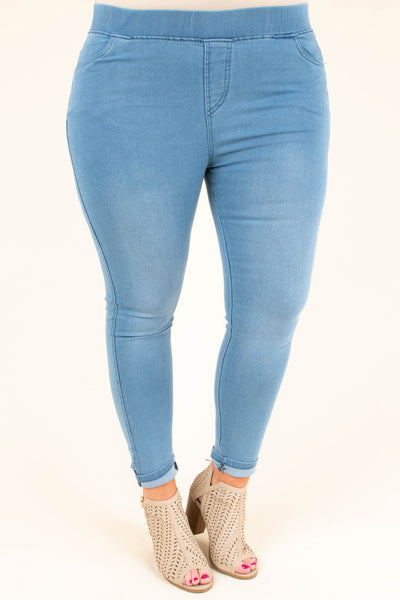 Take You Anywhere Jeggings, Light Wash
