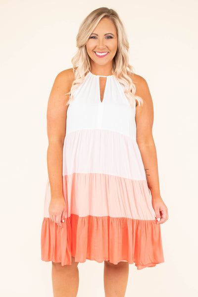 Feeling Something Right Dress, Coral
