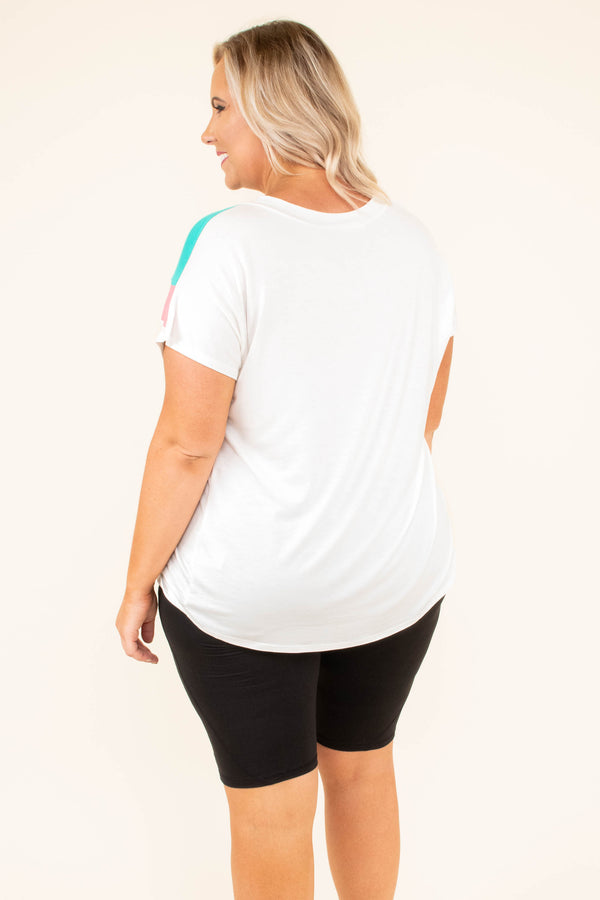 Price To Pay Top, Ivory-Mint