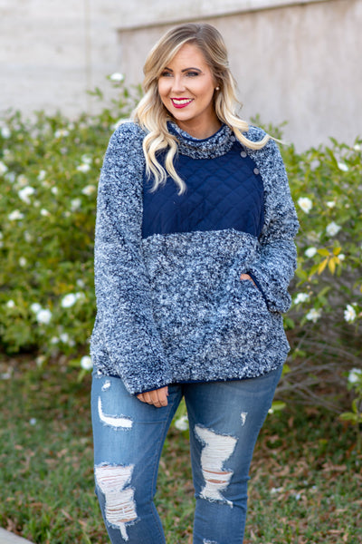 Snowy Mornings Pullover, Navy