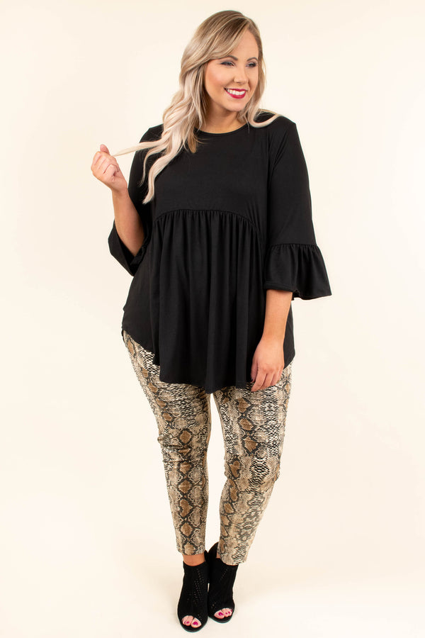 Cocktail Hour Top, Black