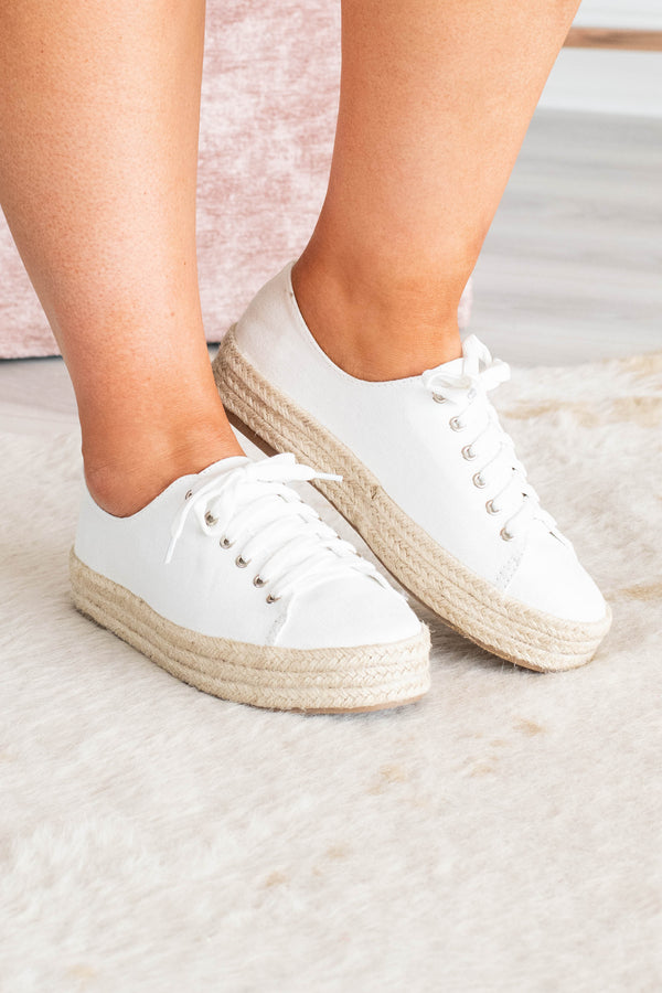 By The Sea Shore Sneakers, White