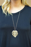 Leaf It To Me Necklace, Gold