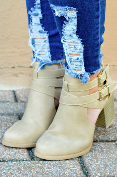 Back To The Start Booties, Camel