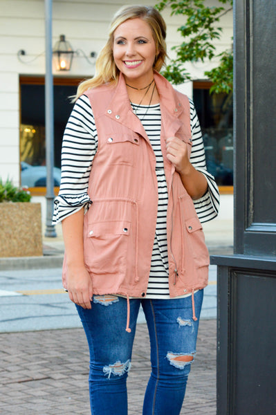 The Bella Vest, Salmon
