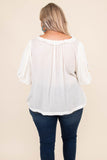 shirt, short sleeve, v neck, embroidered sleeves, white, loose, comfy, spring, summer, light weight