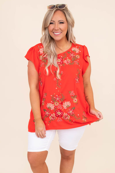 shirt, short sleeve, ruffle sleeves, long, loose, red, embroidery, green, white, yellow, comfy, spring, summer