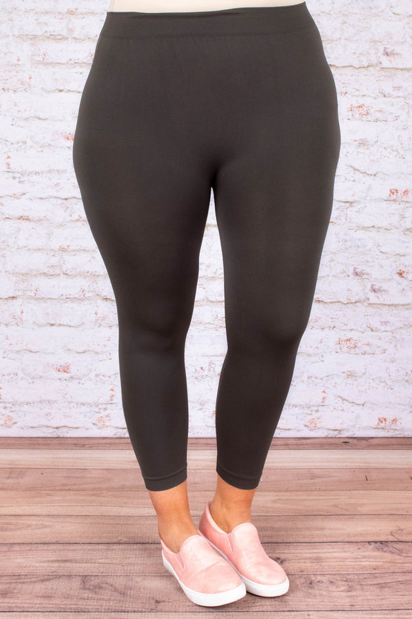 Luxe Leggings, Cropped Charcoal