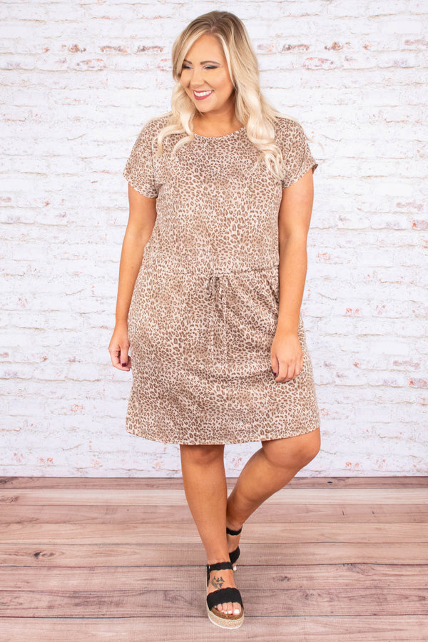 Top Of The List Dress, Brown