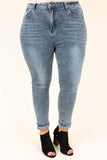 Against the Wall Skinny Jeans, Stone Wash