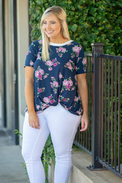Freshen Up Top, Navy