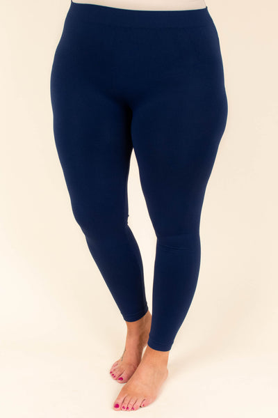 Luxe Leggings, Long Navy