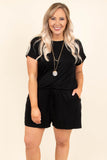 Sweet Saturday Romper, Black
