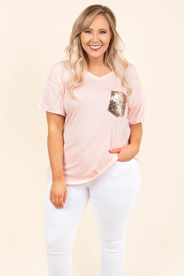 Only For a Minute Top, Blush