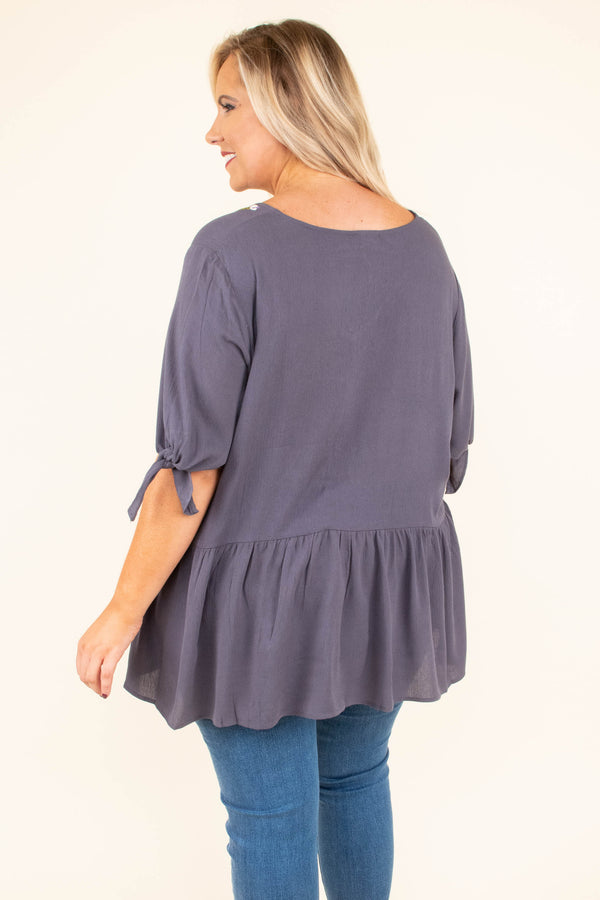 Giving You My Love Top, Gray