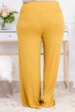 pants, long, lounge wear, comfy, elastic waist band, loose, comfy, soft, light mustard, yellow