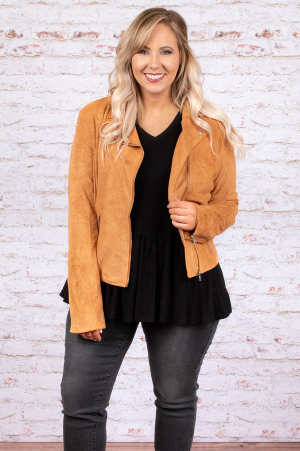 cute cheap quite nice hottest sale Upstate Chic Jacket, Cognac