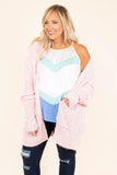 top, cardigan. open, pockets, fuzzy, pink, long sleeve, cozy