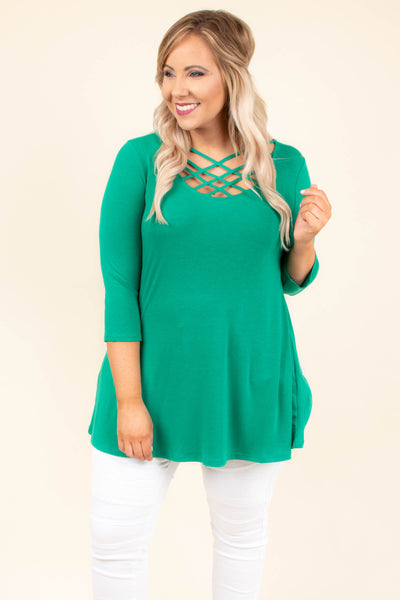 Good Heart Top, Kelly Green