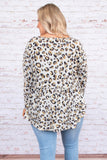 shirt, long sleeve, babydoll, long, flowy, white, brown, black, leopard, comfy