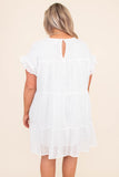 dress, short dress, eyelet, short sleeve, above the knee, spring, summer, comfy