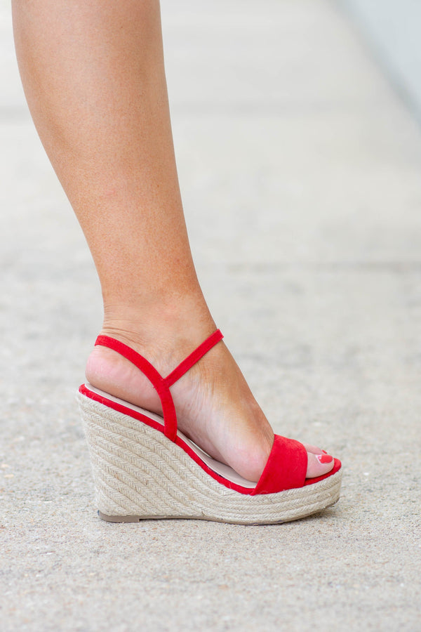 After Hours Wedges, Red