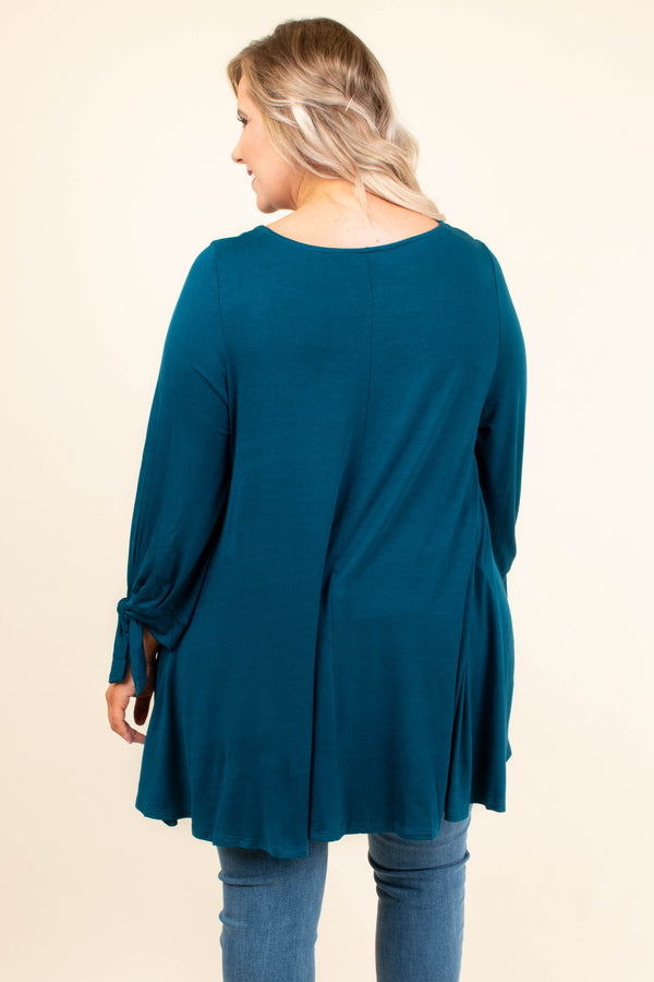 All Tied Up Tunic, Dark Teal