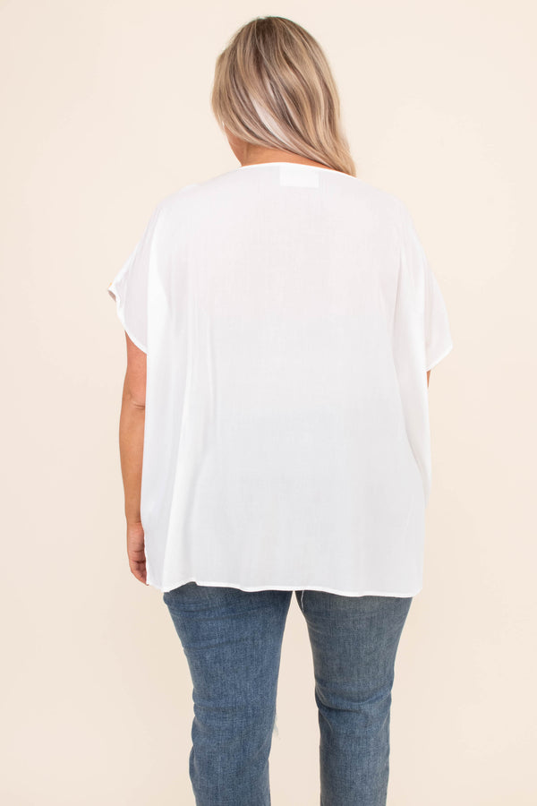 Summer In The Valley Top, Ivory