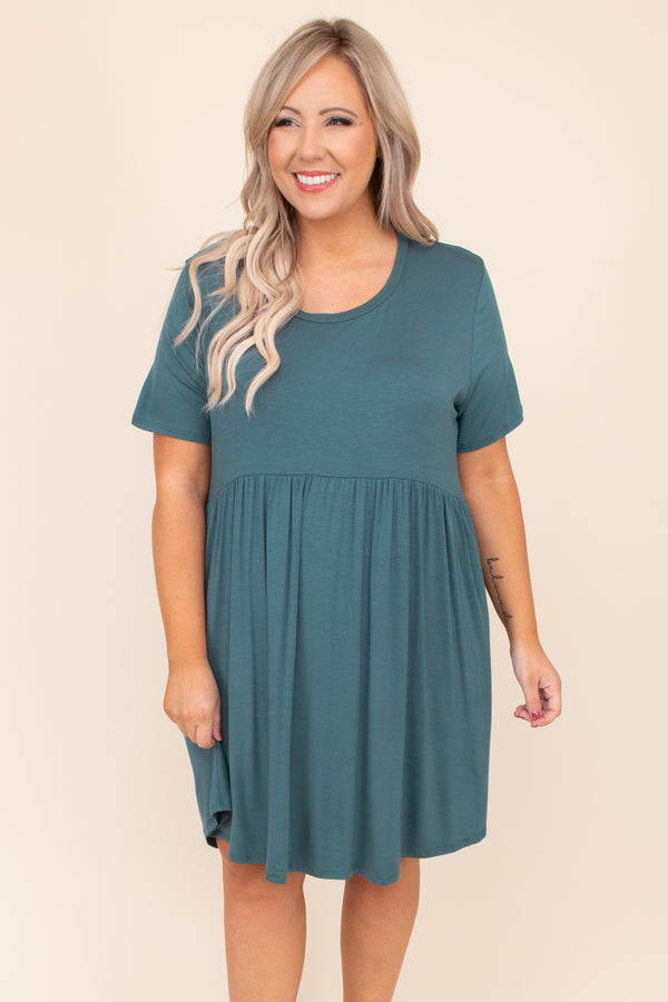 The Sawyer Dress, Hunter Green