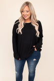 flowy, open back, top, round neck, long sleeve, neutral, solid, black, figure flattering