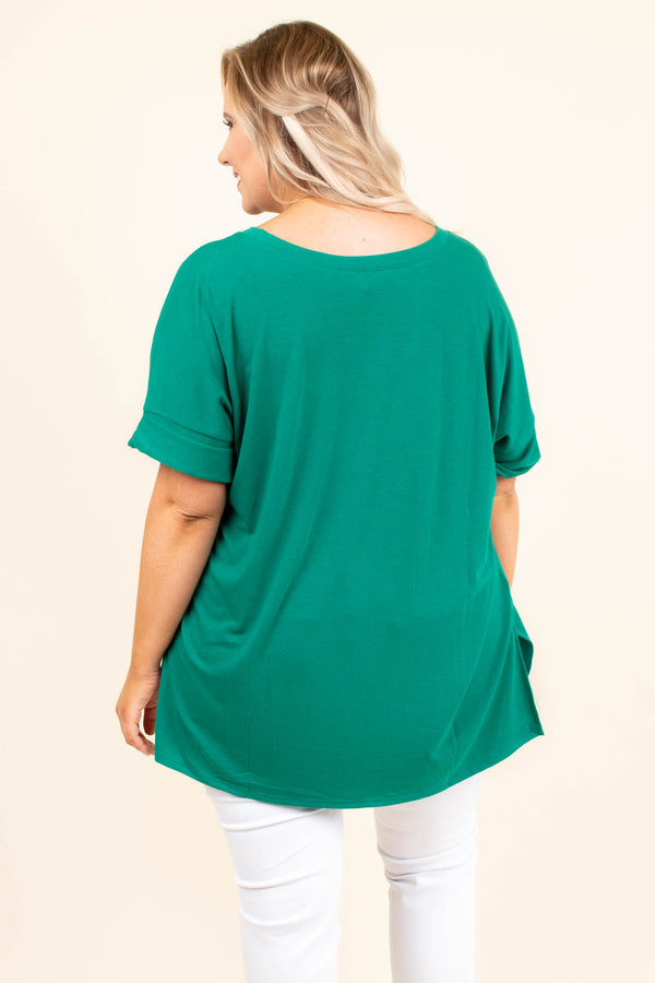 Comfy Travels Top, Forest Green