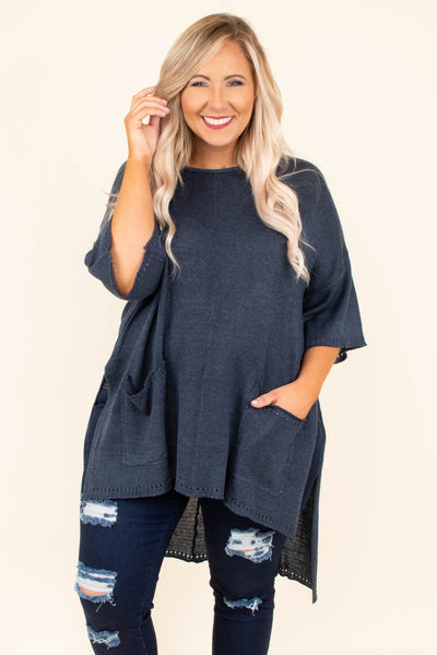 The Lucky One Tunic, Navy