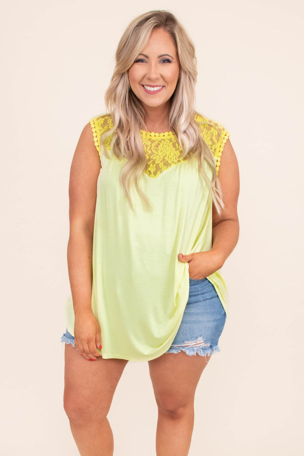 tank, cap sleeve, long, flowy, lace top, yellow, comfy, spring, summer