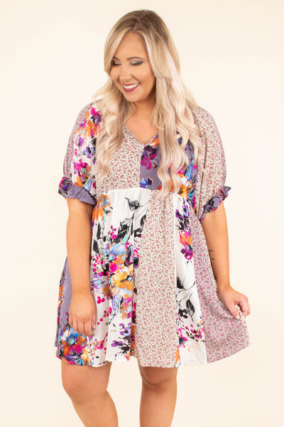 Love And Lilacs Dress, Multi