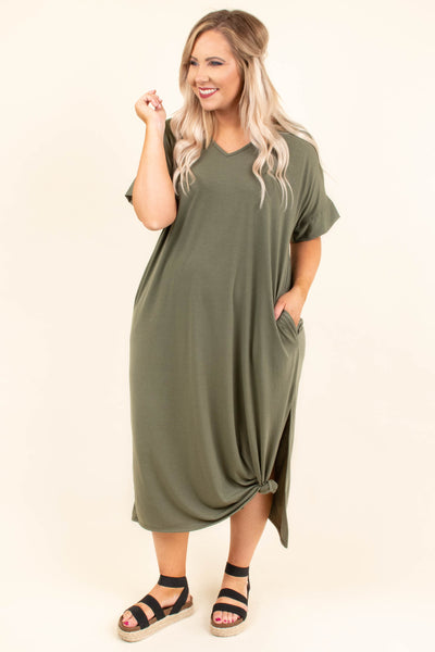 Sun Kissed Dress, Olive