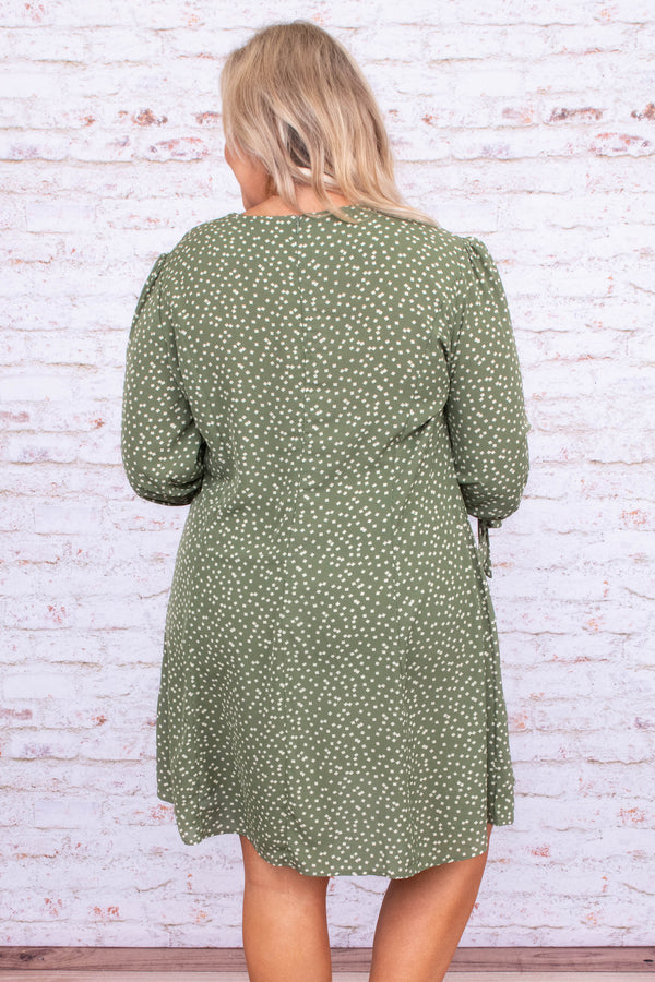 Sleeping In The Stars Dress, Olive