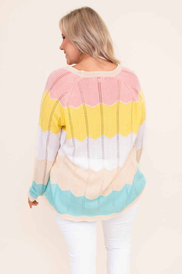 cardigan, long sleeve, vneck, button down, loose, knit, loose, pink, yellow, white, tan, blue, chevron, comfy