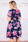 Honeymoon Avenue Dress, Navy