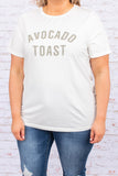 shirt, tee shirt, graphic tee, avocado toast, ivory, green, comfy