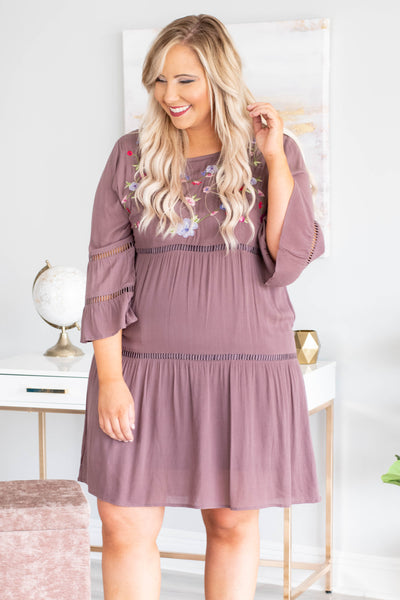 September Skies Dress, Brown