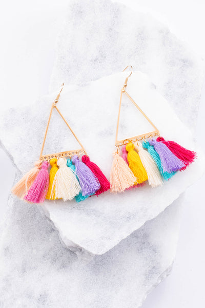 Tapestry Fringe Earrings, Multi