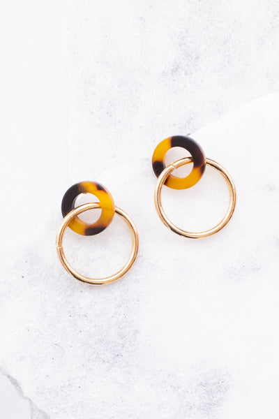 Running In Circles Earrings, Brown