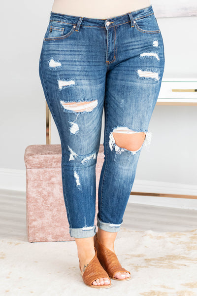 Chic Solutions Skinny Jeans, Dark Wash