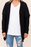 top, cardigan, black, solid, long sleeve, flowy, cute, comfy