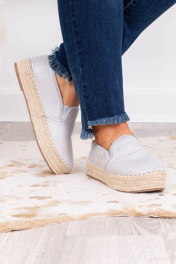 shoes, slides, espadrille, silver, platform, spring, summer